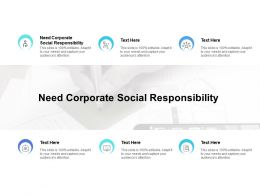 Need Corporate Social Responsibility Ppt Powerpoint Presentation Summary Example Topics Cpb