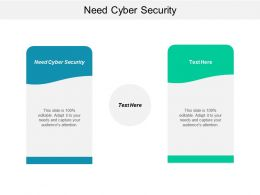 Need Cyber Security Ppt Powerpoint Presentation Styles Clipart Images Cpb