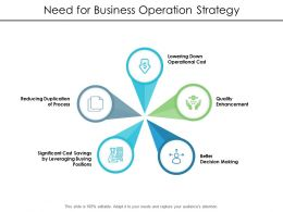 Need For Business Operation Strategy