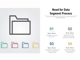 Need For Data Segment Process