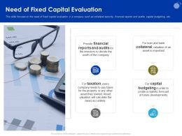 Need Of Fixed Capital Evaluation Calculate Ppt Powerpoint Presentation Professional Ideas