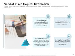 Need Of Fixed Capital Evaluation Taxes Accurately Ppt Powerpoint Presentation Slides