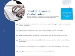 Need Of Resource Optimization Ppt Powerpoint Presentation File Icon