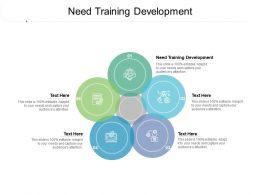 Need Training Development Ppt Powerpoint Presentation Pictures Skills Cpb