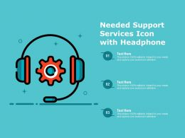 Needed Support Services Icon With Headphone