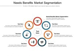 Needs Benefits Market Segmentation Ppt Powerpoint Presentation Infographics Templates Cpb
