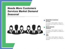 Needs More Customers Services Market Demand Seasonal Overall Schedule