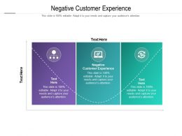 Negative Customer Experience Ppt Powerpoint Presentation Icon Good Cpb