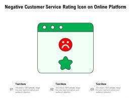 Negative Customer Service Rating Icon On Online Platform