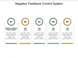 Negative Feedback Control System Ppt Powerpoint Presentation Gallery Summary Cpb