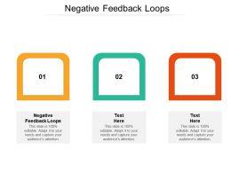 Negative Feedback Loops Ppt Powerpoint Presentation Visual Aids Portfolio Cpb