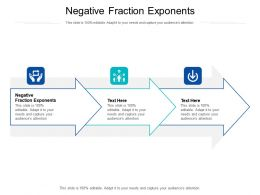Negative Fraction Exponents Ppt Powerpoint Presentation Infographic Template Shapes Cpb
