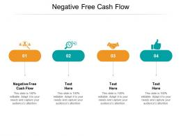 Negative Free Cash Flow Ppt Powerpoint Presentation Styles Design Templates Cpb