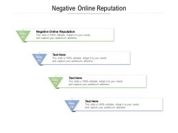 Negative Online Reputation Ppt Powerpoint Presentation Professional Cpb