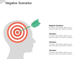 Negative Scenarios Ppt Powerpoint Presentation Icon Influencers Cpb