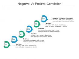 Negative Vs Positive Correlation Ppt Powerpoint Presentation File Slide Portrait Cpb