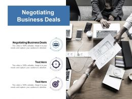 Negotiating Business Deals Ppt Powerpoint Presentation Ideas Shapes Cpb