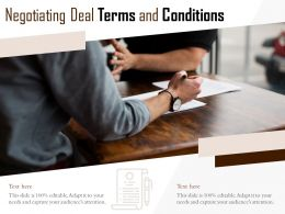 Negotiating Deal Terms And Conditions