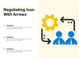 Negotiating Icon With Arrows