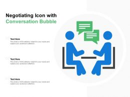Negotiating Icon With Conversation Bubble