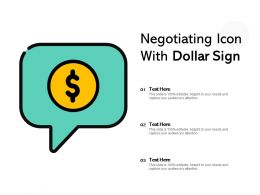 Negotiating Icon With Dollar Sign