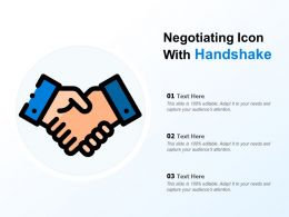 Negotiating Icon With Handshake