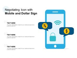Negotiating Icon With Mobile And Dollar Sign