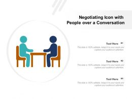 Negotiating Icon With People Over A Conversation