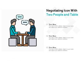 Negotiating Icon With Two People And Table