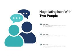 Negotiating Icon With Two People