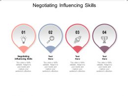 Negotiating Influencing Skills Ppt Powerpoint Presentation Show Shapes Cpb