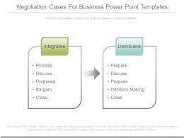 Negotiation Cases For Business Powerpoint Templates