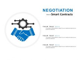 Negotiation Icon Of Smart Contracts
