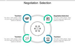 Negotiation Selection Ppt Powerpoint Presentation Slides Deck Cpb