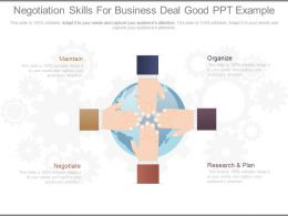 Negotiation Skills For Business Deal Good Ppt Example