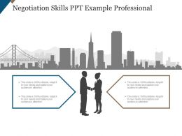 Negotiation Skills Ppt Example Professional