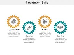 Negotiation Skills Ppt Powerpoint Presentation Summary Templates Cpb