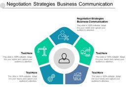 Negotiation Strategies Business Communication Ppt Powerpoint Presentation Professional Files Cpb