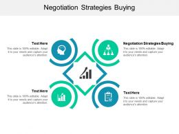 Negotiation Strategies Buying Ppt Powerpoint Presentation Pictures Inspiration Cpb
