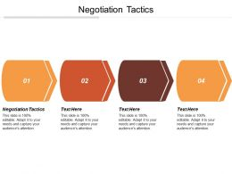 Negotiation Tactics Ppt Powerpoint Presentation Gallery Visuals Cpb