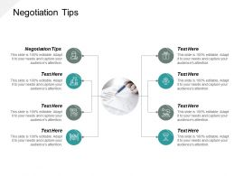 Negotiation Tips Ppt Powerpoint Presentation Slides Samples Cpb