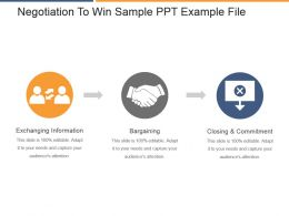 Negotiation To Win Sample Ppt Example File