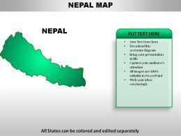 Nepal Country Powerpoint Maps