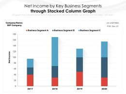 Net Income By Key Business Segments Through Stacked Column Graph