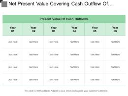Net Present Value Covering Cash Outflow Of Different Years