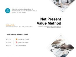 Net Present Value Method Money Ppt Powerpoint Presentation Ideas