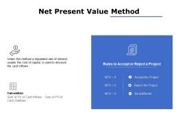 Net Present Value Method Ppt Powerpoint Presentation File Summary