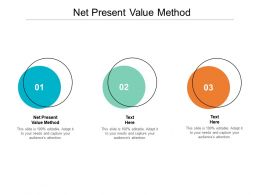 Net Present Value Method Ppt Powerpoint Presentation Infographic Template Outline Cpb