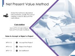 Net Present Value Method Ppt Styles Layout Ideas