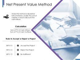Net Present Value Method Ppt Styles Layout Ideas